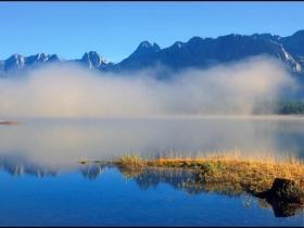 Fog on Kananaskis Lower Lake