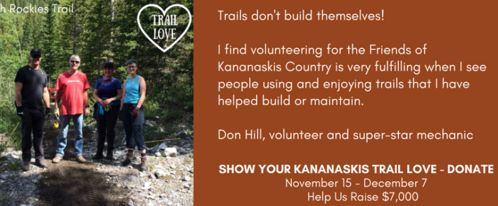 Don Hill, volunteering on the High Rockies Trail
