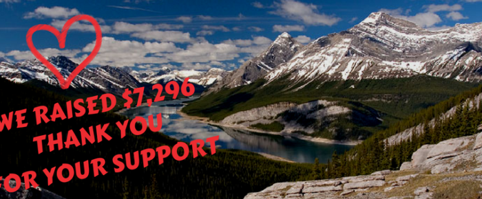 Trail Love – Give Back fundraiser raised $7,296 – THANK YOU!